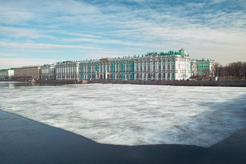 Download Winter Palace stock photo. Image of baroque, city, blue - 8866404