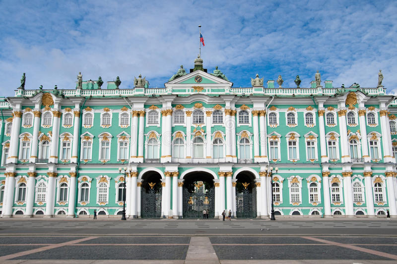 Winter Palace. The Hermitage. Winter Palace (The Hermitage) in St. Petersburg, Russia royalty free stock images