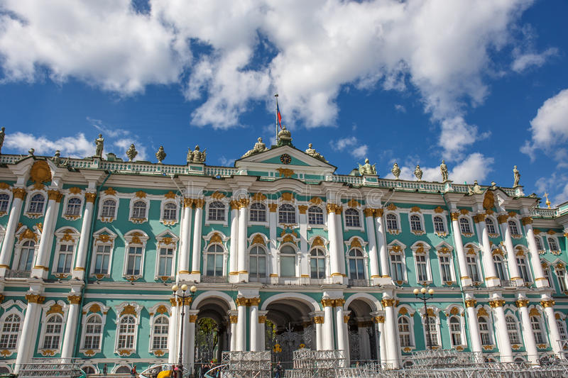 Winter Palace, Hermitage museum, Saint Petersburg. Russia stock images