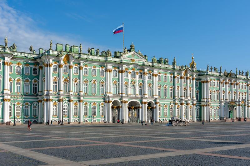 Winter Palace Hermitage museum, St. Petersburg, Russia stock images
