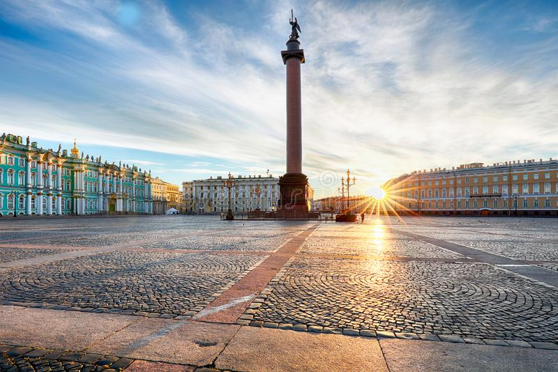 Winter Palace - Hermitage in Saint Petersburg, Russia stock image