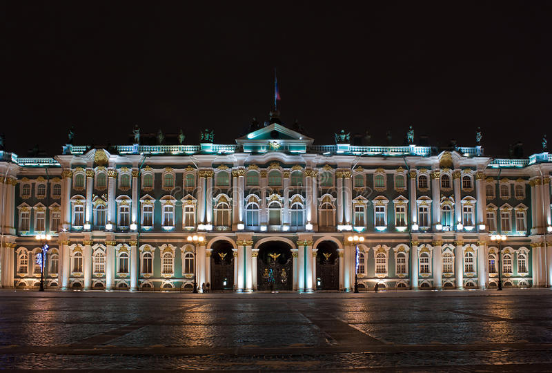 Download Winter Palace At Night, Russia Stock Photo - Image: 22734398
