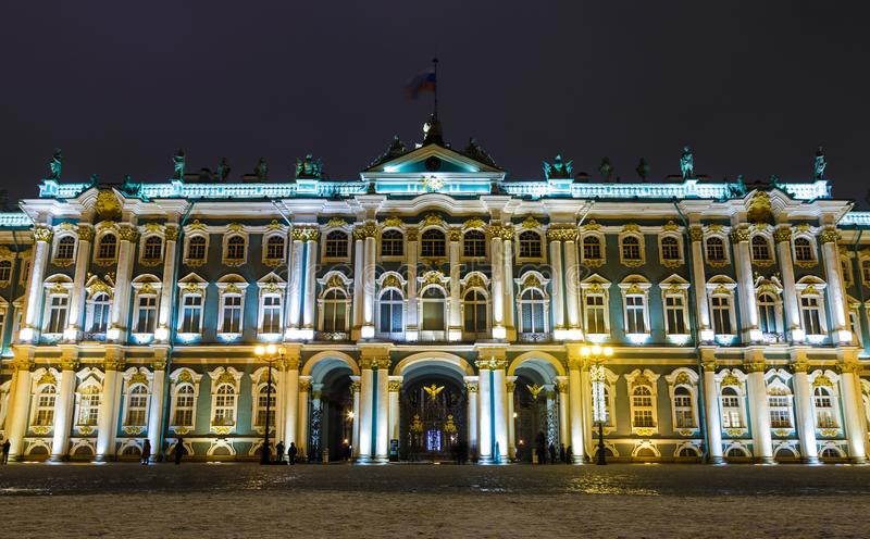Winter Palace in Saint Petersburg timelapse hyperlapse official residence of the Russian monarchs from 1732 to 1917. Winter Palace in Saint Petersburg timelapse royalty free stock images