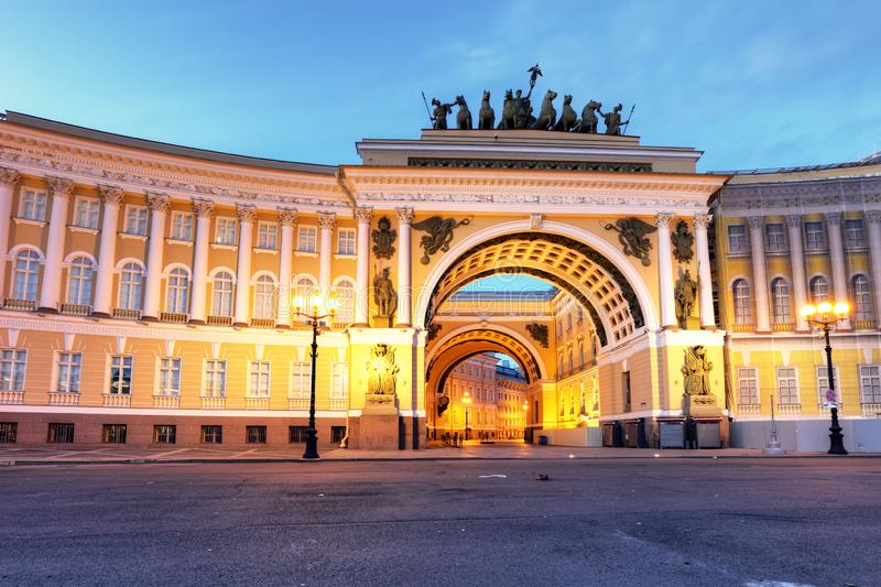 Winter Palace on Palace Square in Saint Petersburg, Russia royalty free stock photo