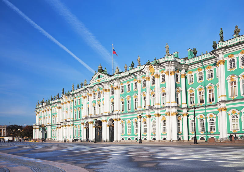 Winter Palace in St. Petersburg. Winter Palace on Palace Square in St. Petersburg/ Dvortsovaya Ploshchad in St. Petersburg stock images