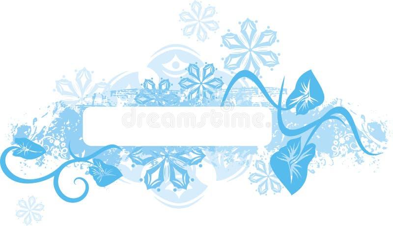Download Winter panel series stock vector. Image of blue, corner - 3332725
