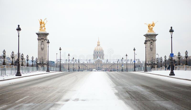 Winter in Paris stockfoto