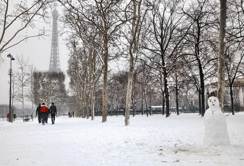 Winter In Paris Editorial Photography