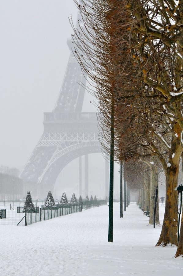 Winter in Paris lizenzfreie stockfotos