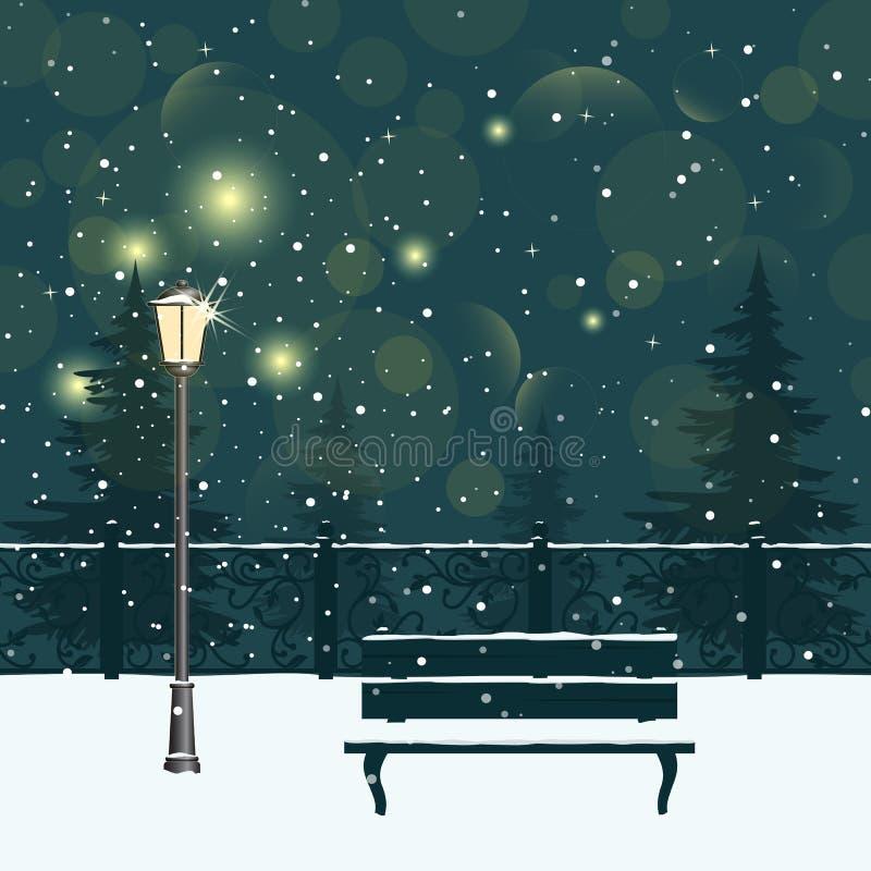 Winter park. royalty free illustration