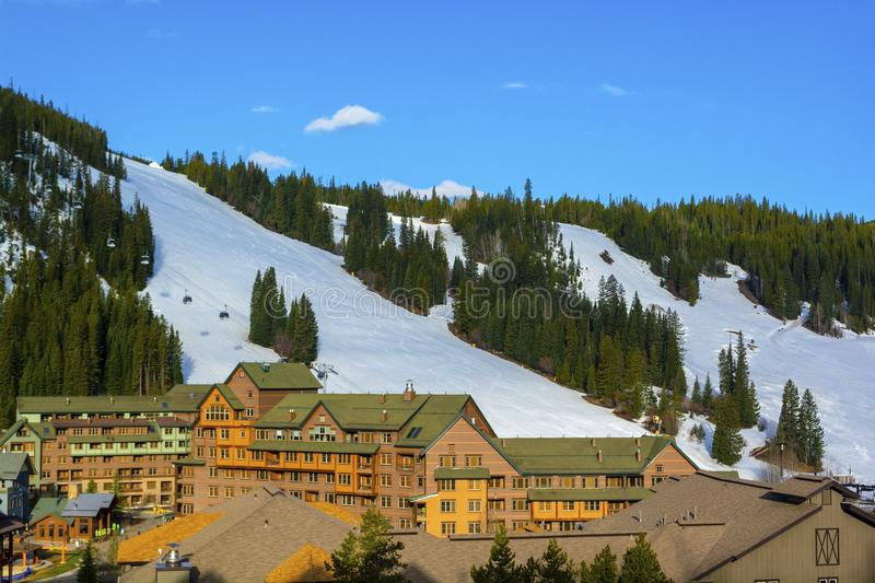 Winter Park Ski Area in the Colorado Rockies.  royalty free stock photography