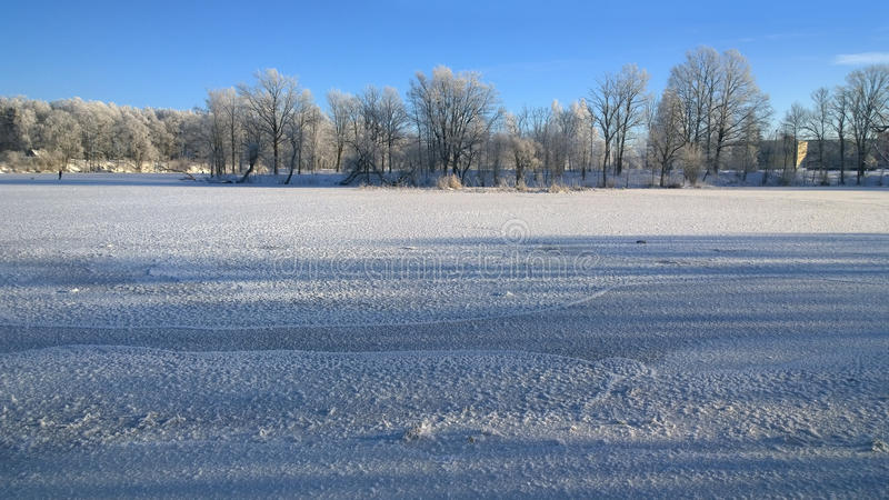 Download Winter Park. Winter Landscape On The River. Stock Photo - Image of drifts, february: 83703098