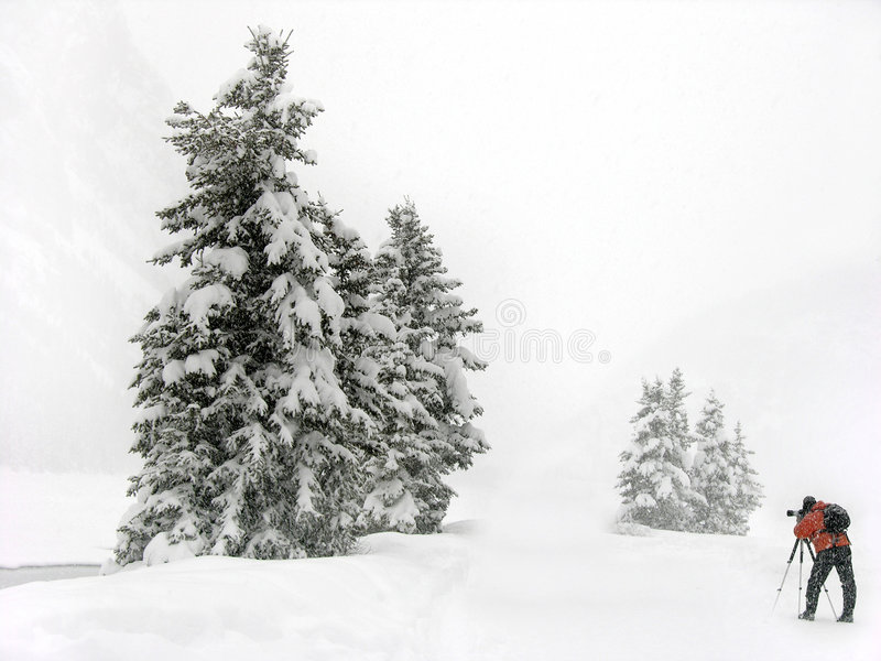 Download Winter photographer stock image. Image of winter, conditions - 461571