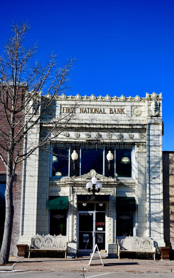 First National Bank royalty free stock images