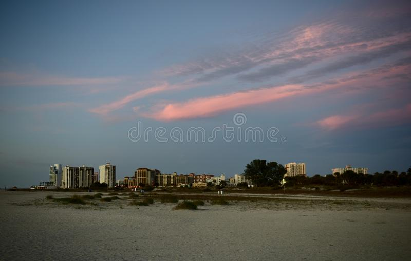 Looking East as the Sun Sets in the West royalty free stock image