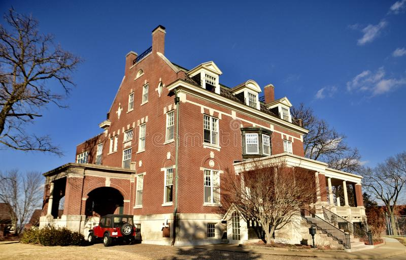 Villa Panorama. This is a Winter picture of Villa Panorama located in Jefferson City, Missouri in Cole County. This two and a half story brick mansion was stock photos
