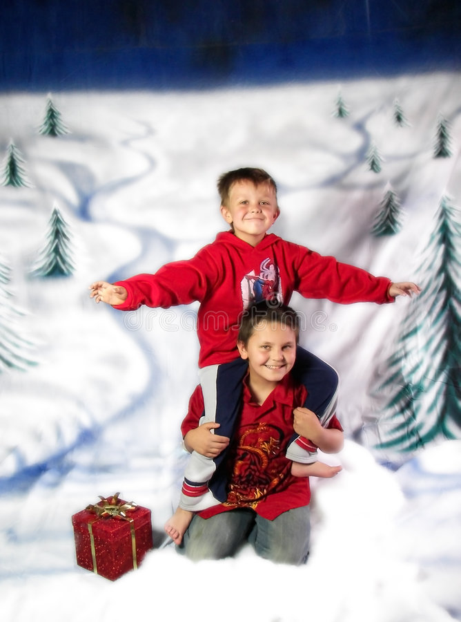 Download Winter play stock photo. Image of gift, crawling, christmastime - 3537494