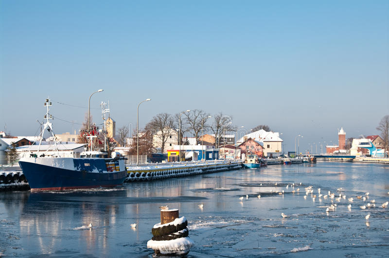 Winter Port Stock Image