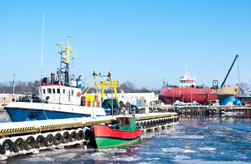Download Winter port stock image. Image of polish, boat, transportation - 12573217