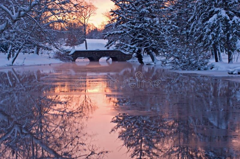 Winter Portage Creek stock photography