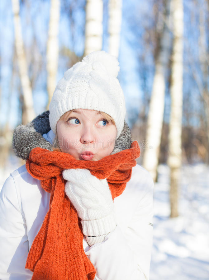Download Winter portrait stock photo. Image of cute, female, cold - 29798542