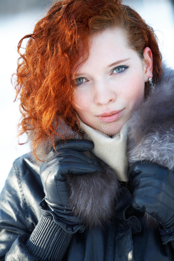 Download Winter Portrait Of A Beautiful Woman Stock Photo - Image: 12682434