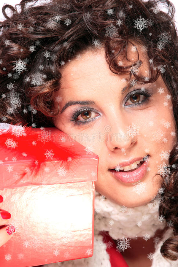 Download Winter Portrait Of A Beautiful Young Smiling Woman Stock Image - Image: 11466617