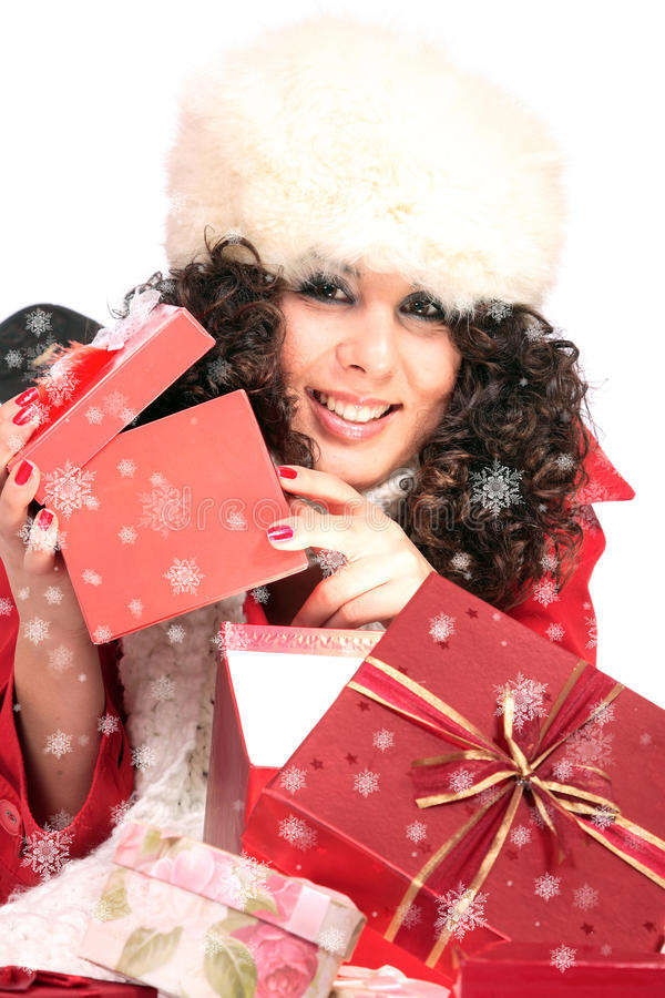 Download Winter Portrait Of A Beautiful Young Smiling Woman Stock Image - Image: 11466629