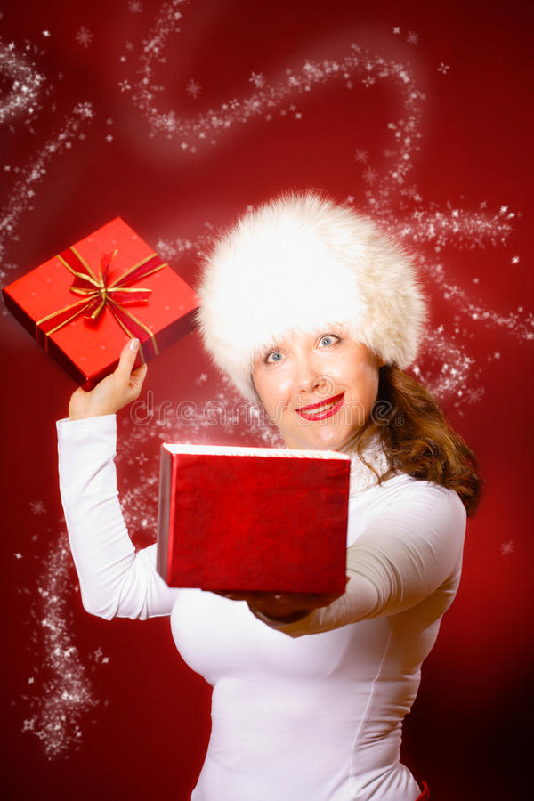 Download Winter Portrait Of A Beautiful Young Woman Stock Image - Image: 17396457