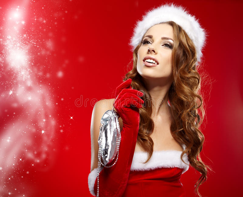 Download Winter Portrait Of A Christmas  Woman Stock Photo - Image: 28051156