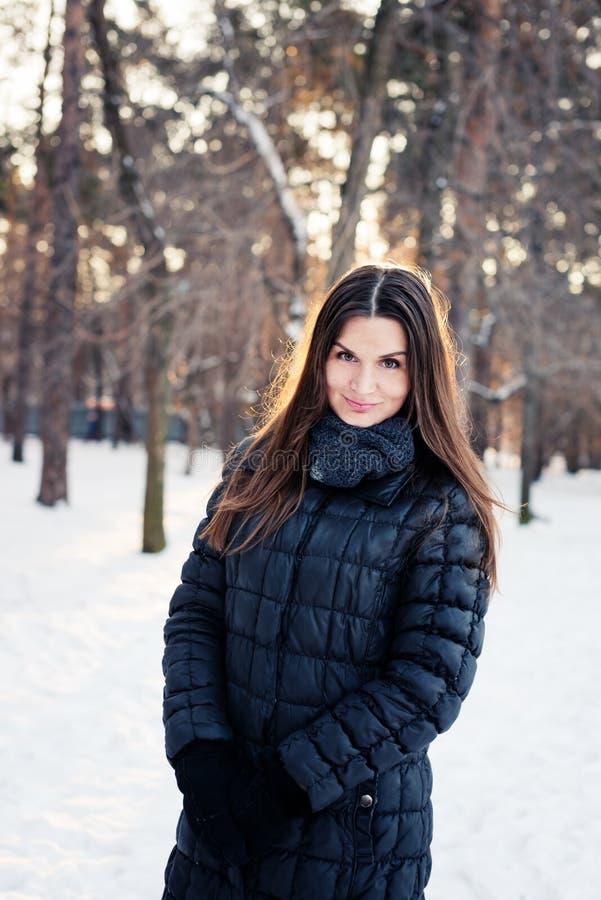 Winter portrait. Shallow dof. royalty free stock image