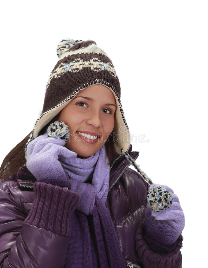 Download Winter portrait of a woman stock image. Image of knit - 11973235