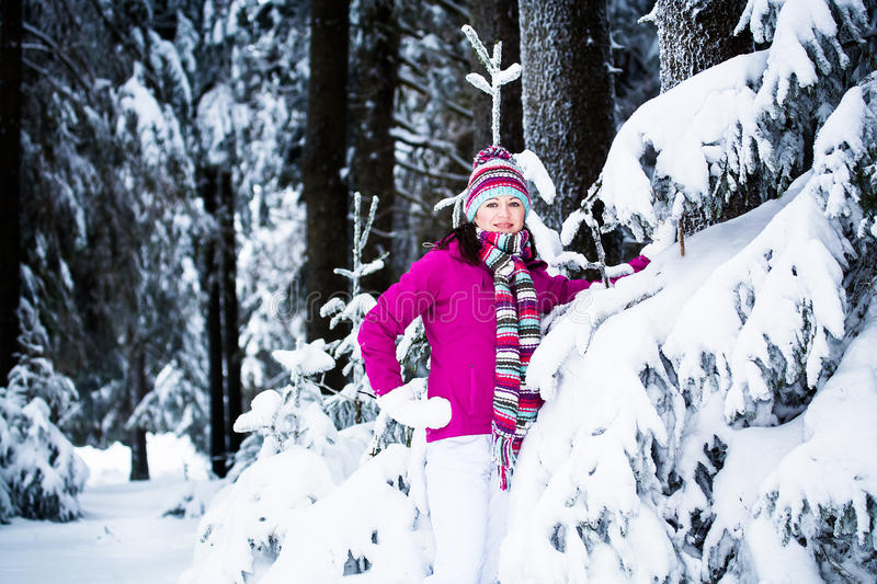 Winter Portrait Of A Woman Royalty Free Stock Photo