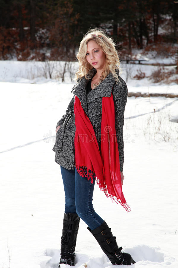 Winter Portrait of Woman royalty free stock photos