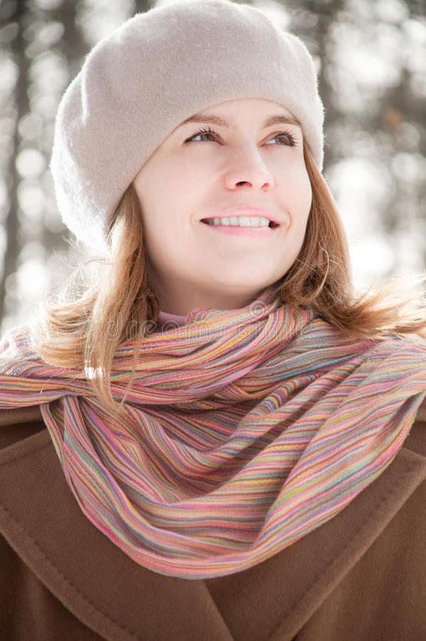 Download Winter Portrait Of Young Woman Stock Photo - Image: 13449088