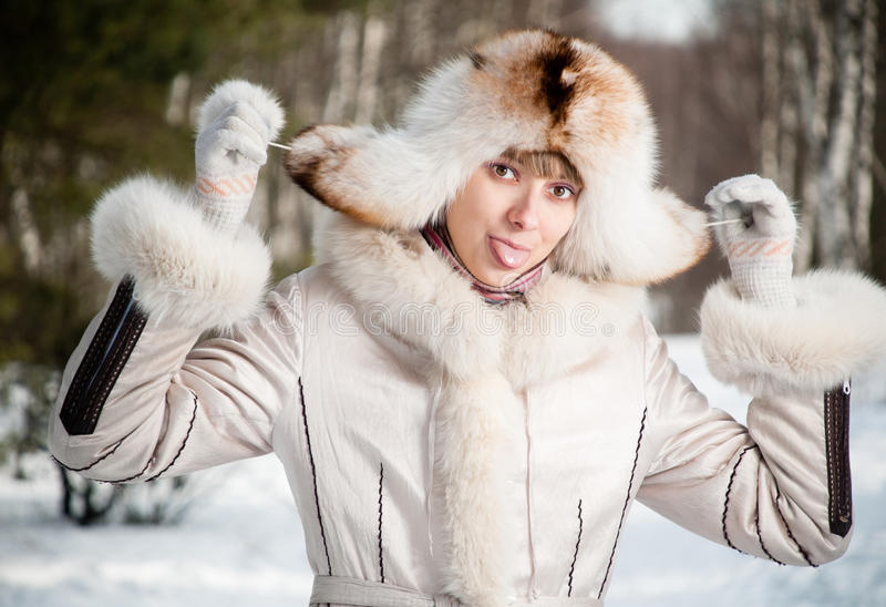 Download Winter Portrait Of Young Woman Stock Photo - Image: 13496622