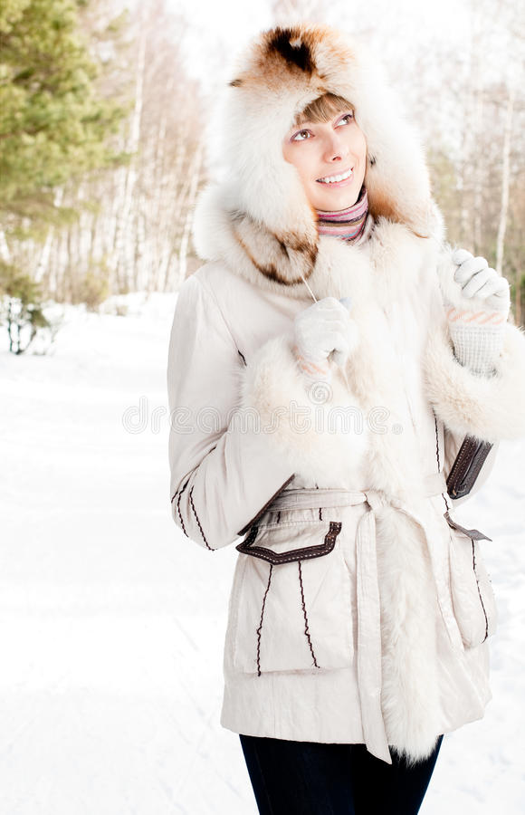 Download Winter Portrait Of Young Woman Stock Image - Image: 13496623