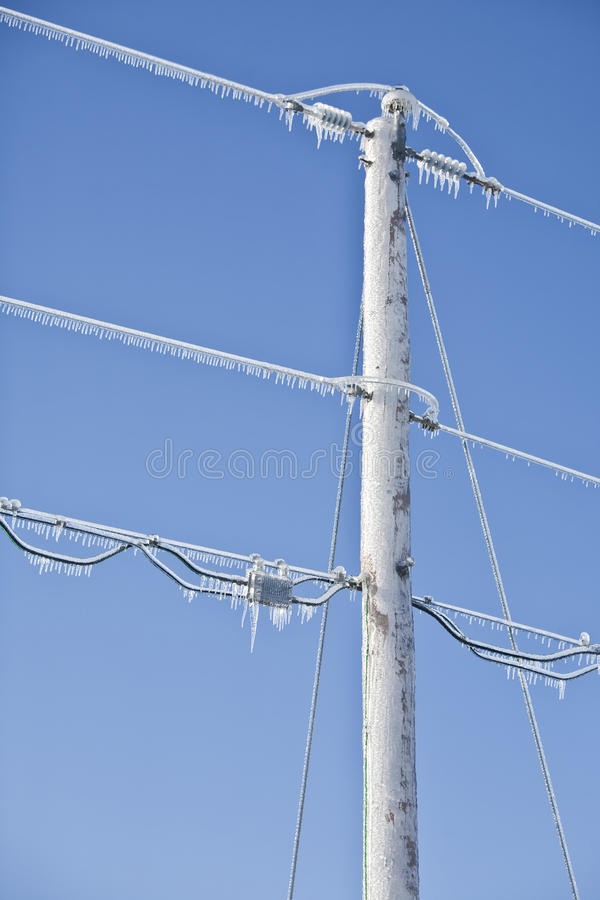 Free Winter Power Lines Stock Photo - 26499450