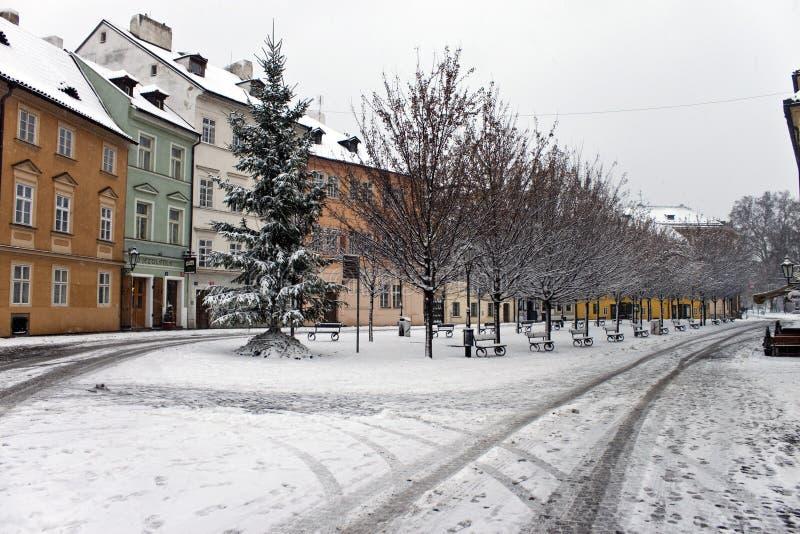 Winter in Prag stockfoto