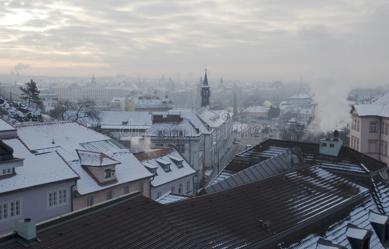 Winter in Prague royalty free stock photos