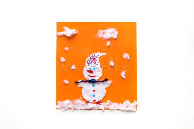 Winter Preschool Arts, crafts Activities. Easy crafts ideas, Creative paper projects for kids. Fun educational activities for. Children stock photos