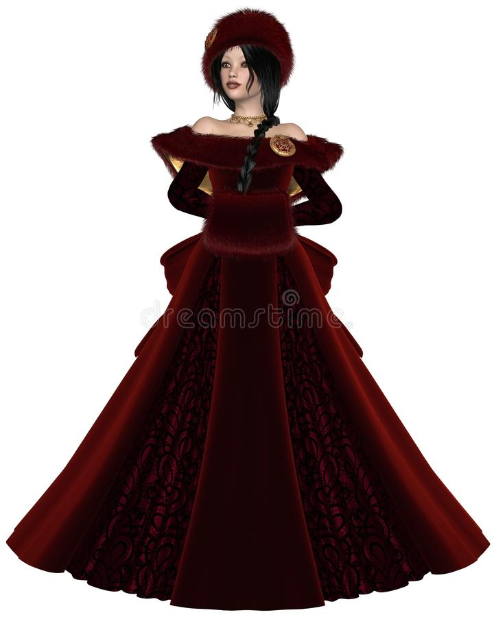 Winter Princess in Red