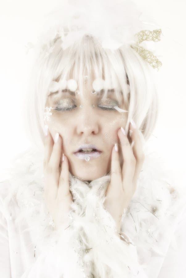 Winter-Prinzessin stockfotografie