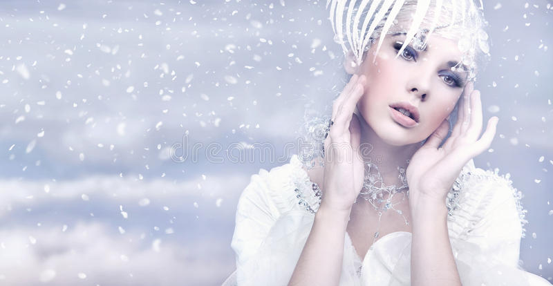 Download Winter Queen stock photo. Image of fashion, jewelry, fantasy - 16993168