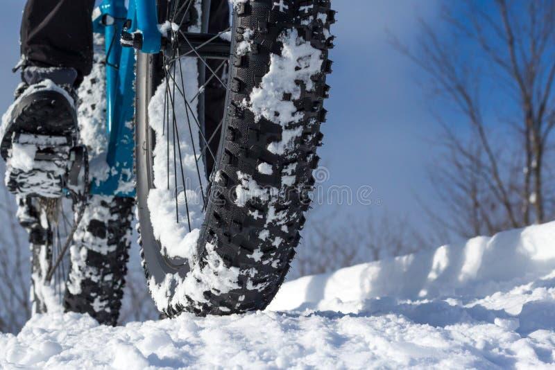 Winter-Radfahren lizenzfreie stockfotografie