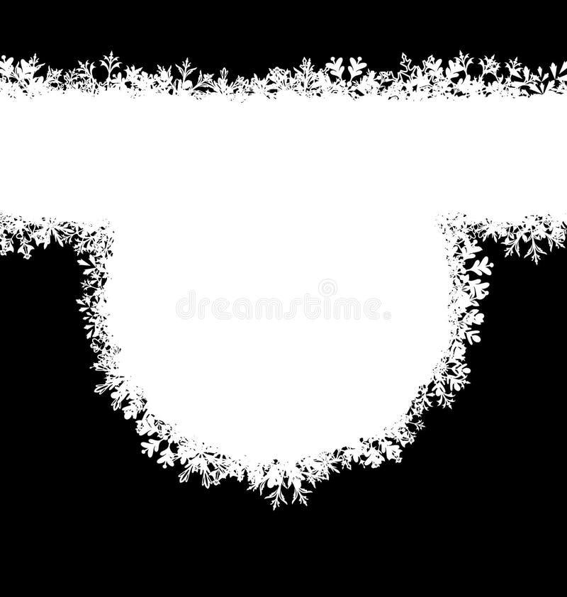 Winter-Rahmen mit Schneeflocken, Feiertags-Hintergrund vektor abbildung