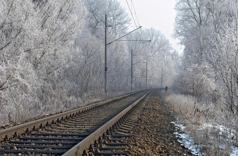 Download Winter railroad stock photo. Image of snowy, country - 25462274