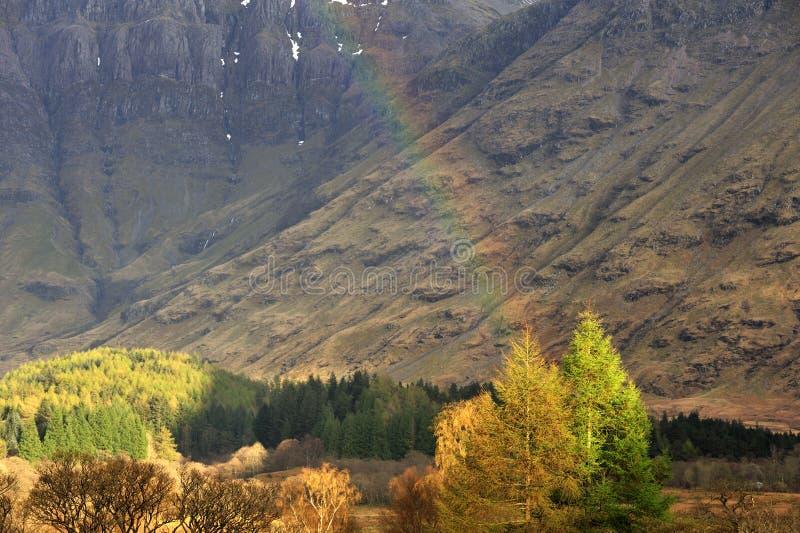 Winter rainbow, Glencoe, Scotland royalty free stock image