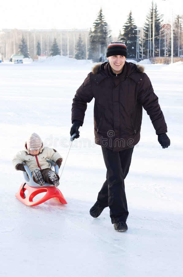 Download Winter recreation stock image. Image of leisure, child - 4006513