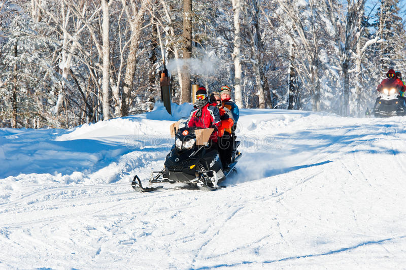 Winter recreation stock images